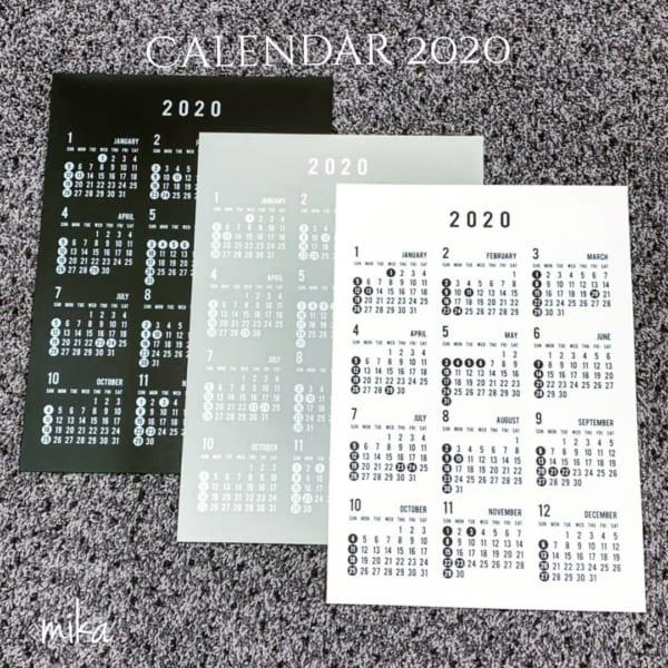 カレンダーと手帳3