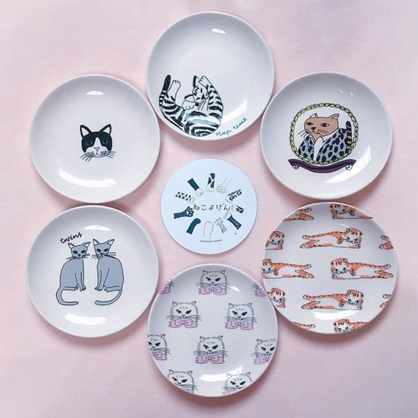 猫の豆皿はインテリアに使っても可愛い