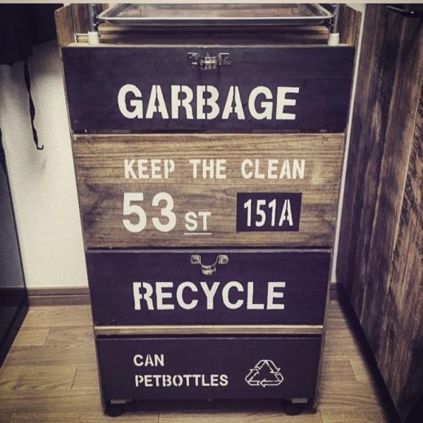 すのこでおしゃれなゴミ箱をDIY
