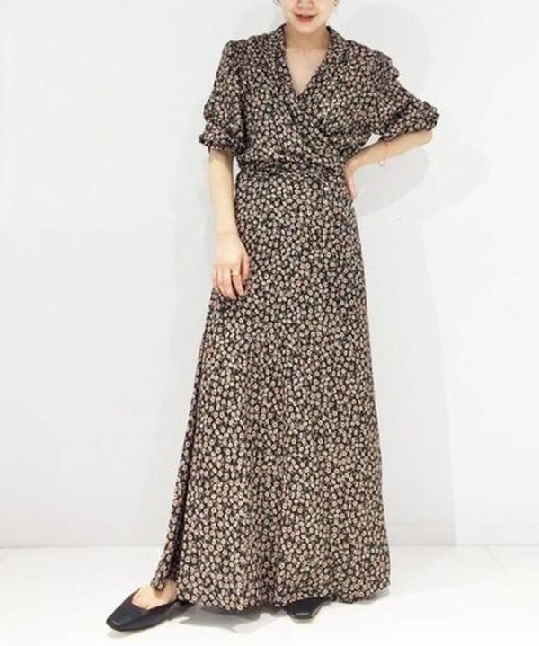 Plage - VENIT VINTAGE FLOWER WRAP ドレス