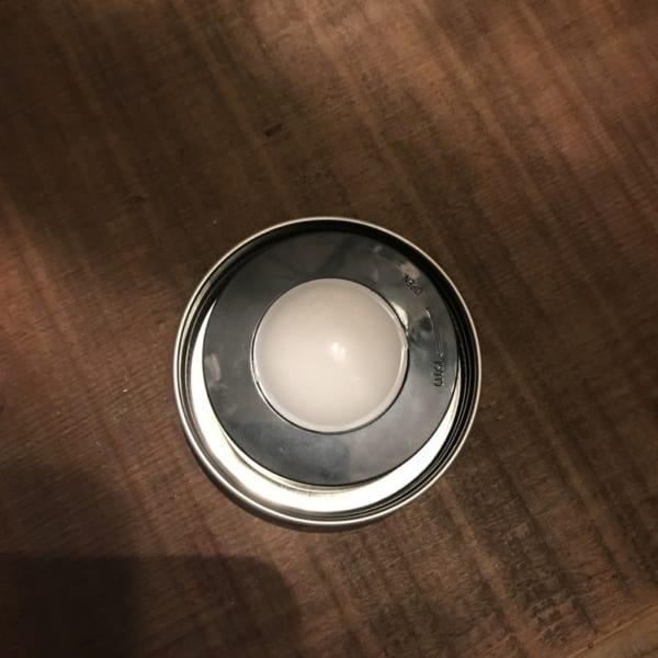 100均のLEDライトを使った、メイソンジャーテラリウムライト