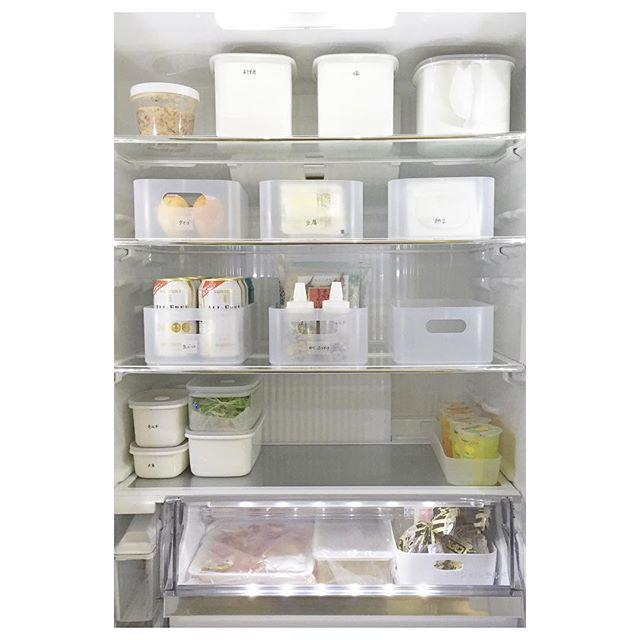 冷蔵庫はジャンル別にディスプレイ