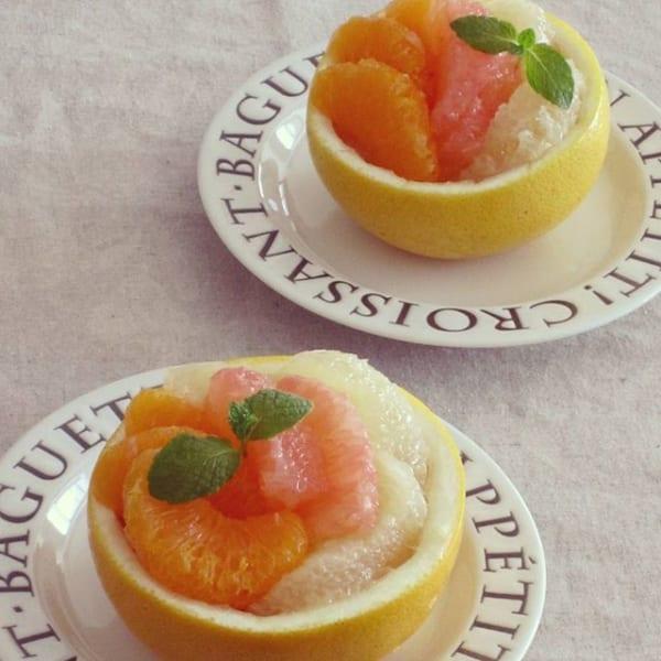 デザートに人気!グレープフルーツの柑橘ゼリー