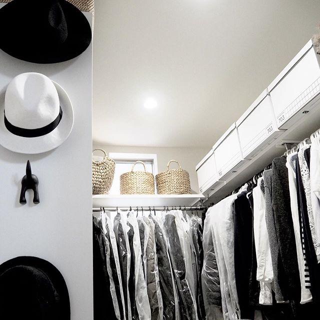 おしゃれな帽子収納アイデア《クローゼット》5