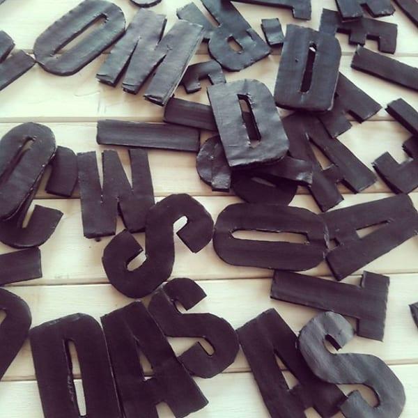 アルファベットおもちゃの手作り