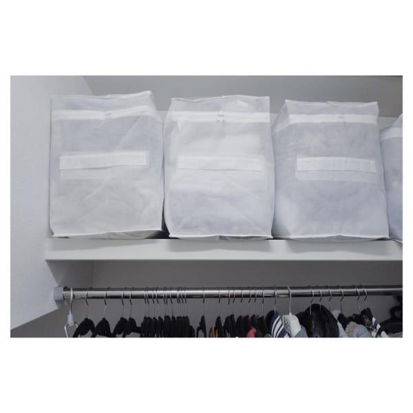 不織布ケースでクローゼットの布団収納