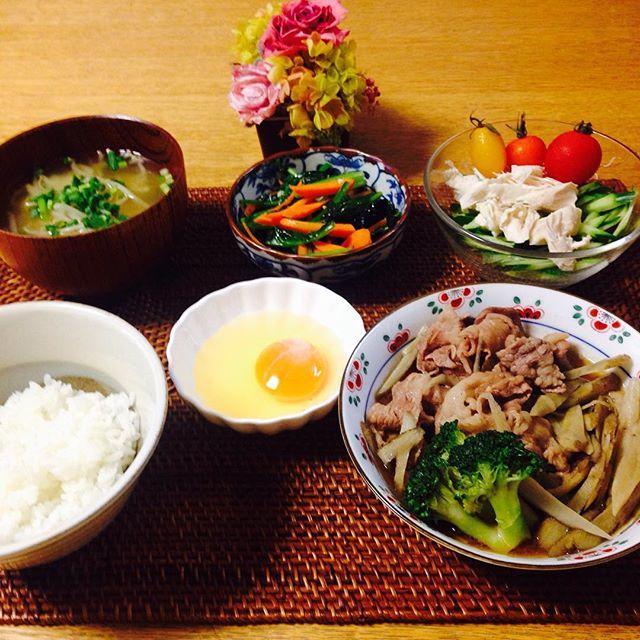 おすすめレシピに!牛バラ肉とゴボウのすき煮