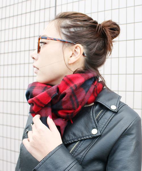 マフラー 似合う髪型 ミディアムヘア2