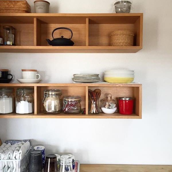 無印「壁に付けられる家具」でキッチン収納