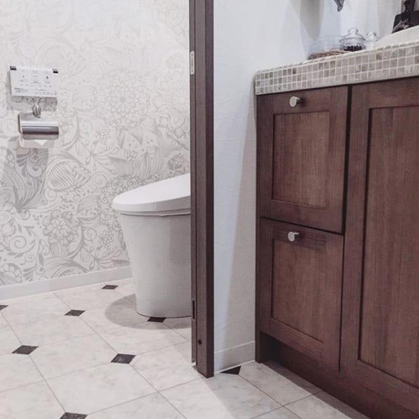 洗面所とのつながりを意識して