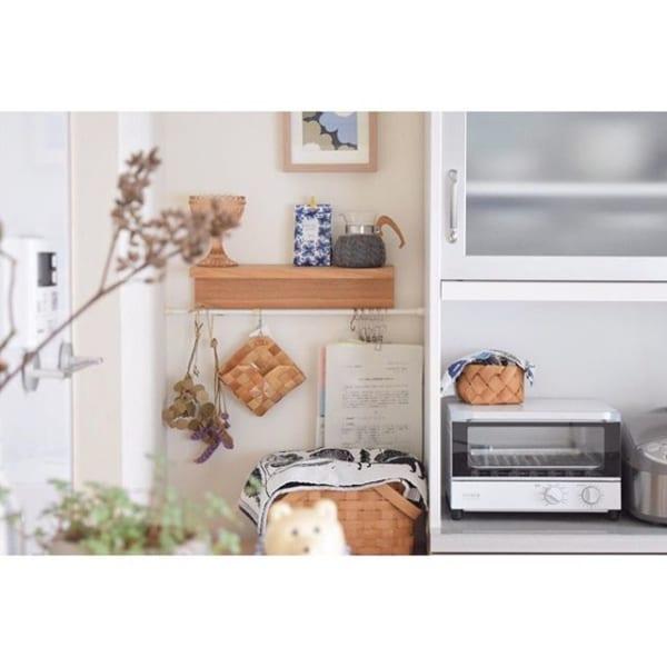 無印「壁に付けられる家具」でキッチン棚