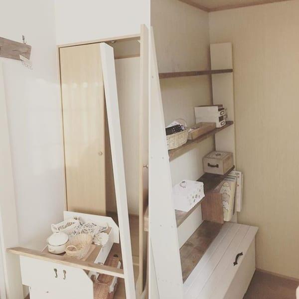 DIY棚を使う一人暮らし収納アイデア