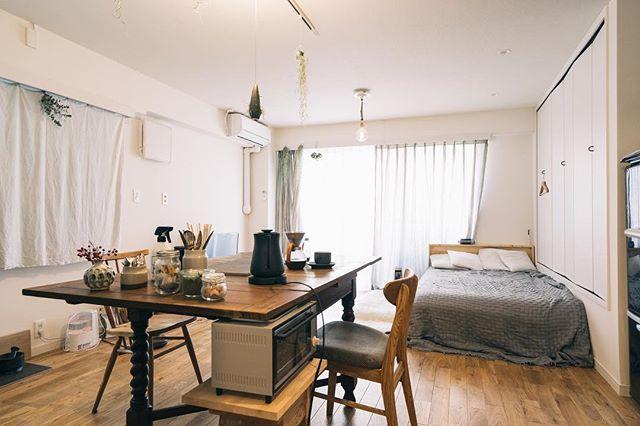 一人暮らし部屋のおしゃれな広々空間