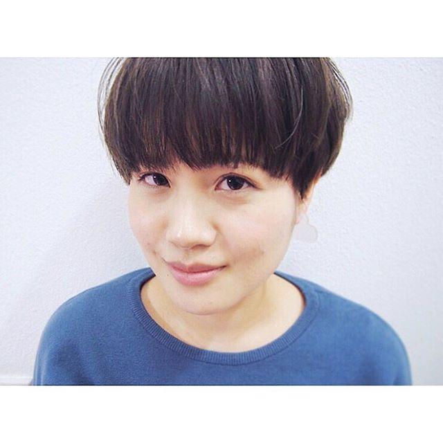 50代女性×ショートヘア③丸みショート