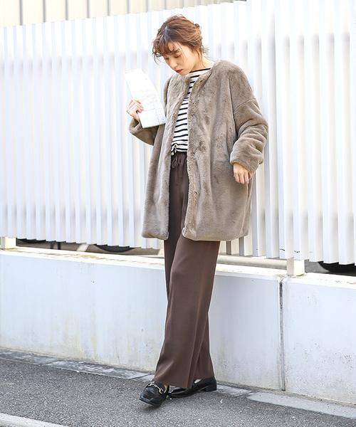 名古屋 2月 服装 パンツコーデ