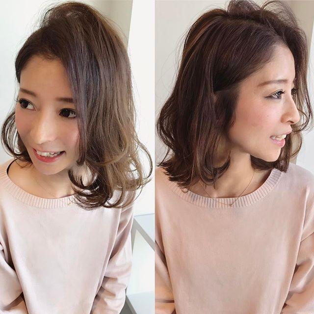 オフィスカジュアル ボブ 髪型4