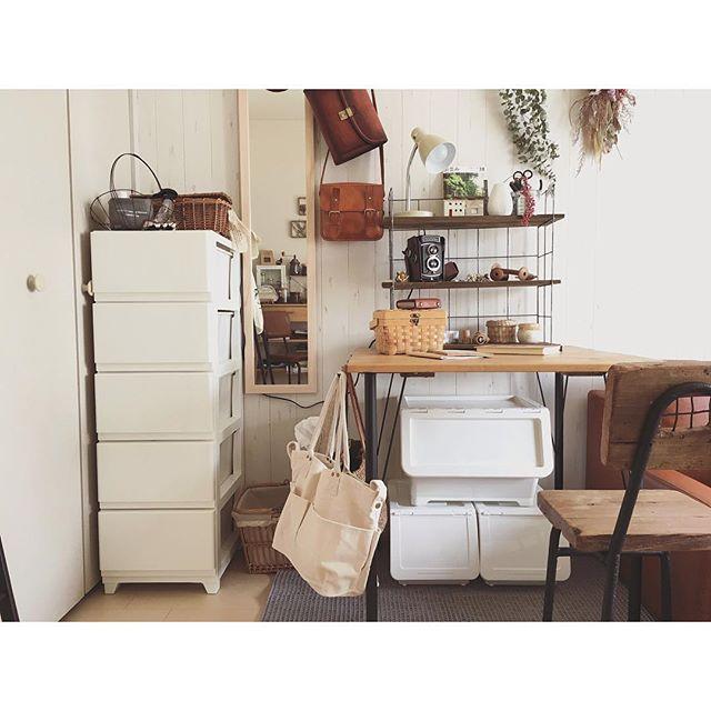 一人暮らし部屋の可愛い身支度スペース