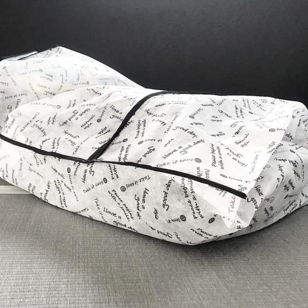 おしゃれな袋でクローゼットの布団収納