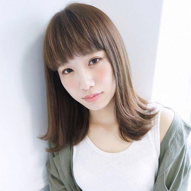 30代女性 髪色 グレージュ3
