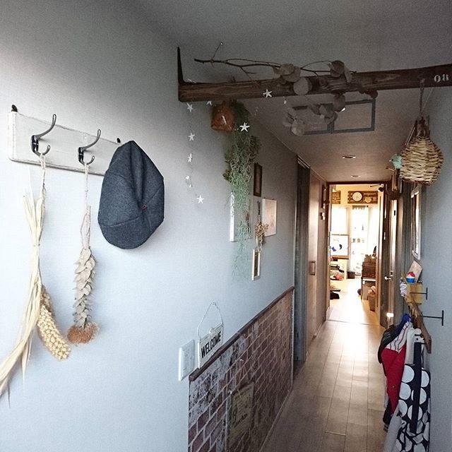 おしゃれな帽子収納アイデア《玄関》3