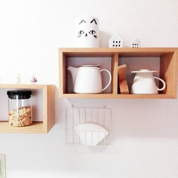 無印「壁に付けられる家具」でカフェ風飾り