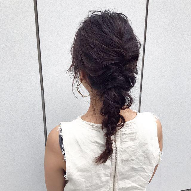 40代女性のヘアアレンジ セミロング・ロング5