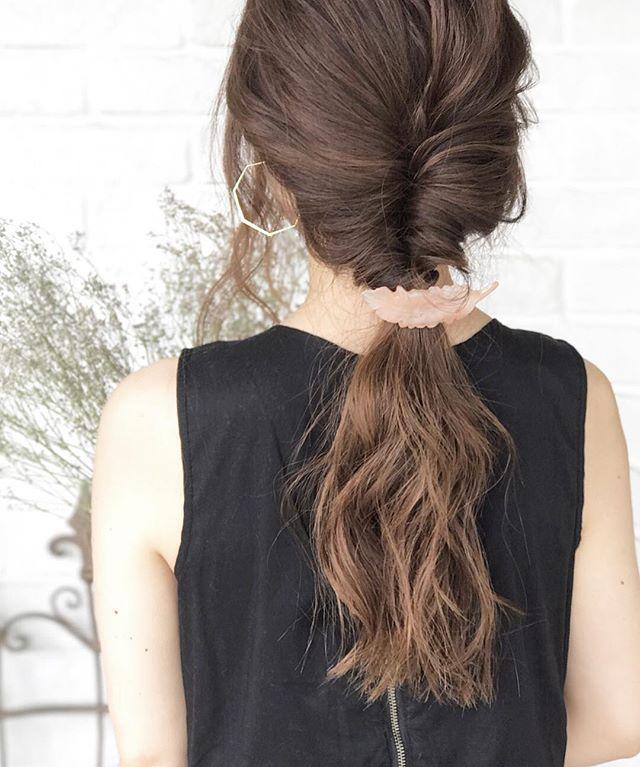 40代女性のヘアアレンジ セミロング・ロング4