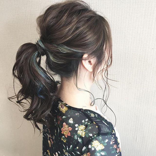 オフィスカジュアル セミロング 髪型
