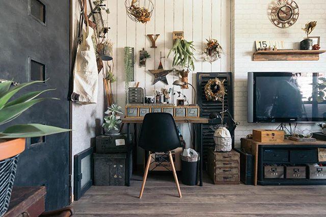 一人暮らし部屋のカフェ風コーディネート