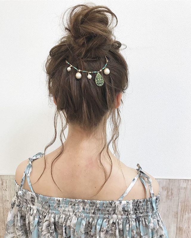 40代女性のヘアアレンジ セミロング・ロング7