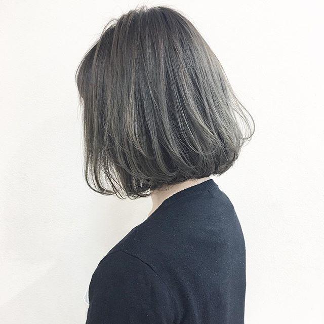 30代女性 髪色 グレージュ2