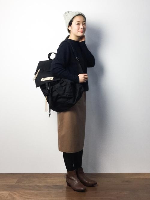 レザー スカート コーデ6