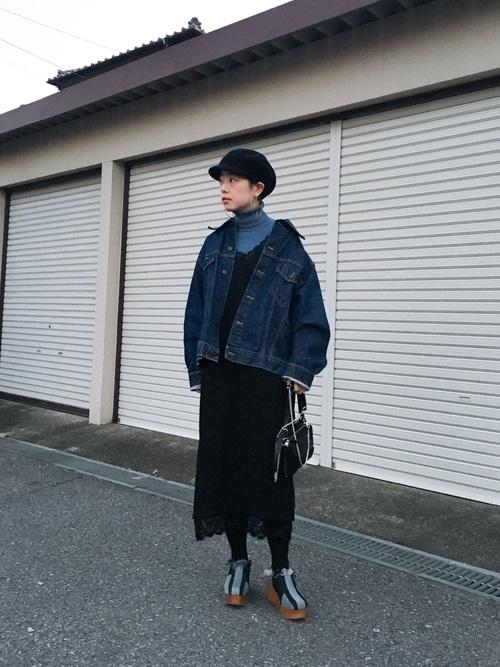 おしゃれ 防寒コーデ ワンピーススタイル6
