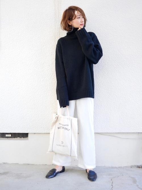 【GU】ローゲージタートルネックセーター