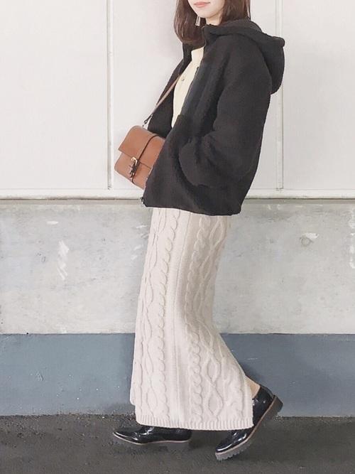 名古屋 1月 服装 スカートコーデ5
