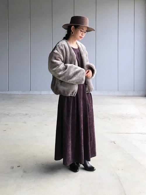 おしゃれ 防寒コーデ ワンピーススタイル2