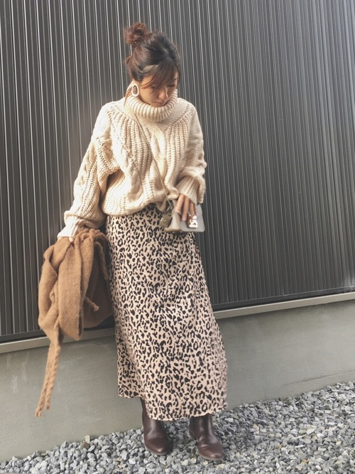 [CORNERS] マルチパターンロングフレアースカート