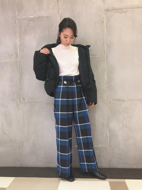 [PUBLIC TOKYO] カラーチェックパンツ