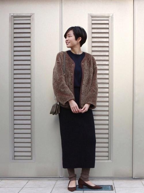 おしゃれ 防寒コーデ スカートスタイル6