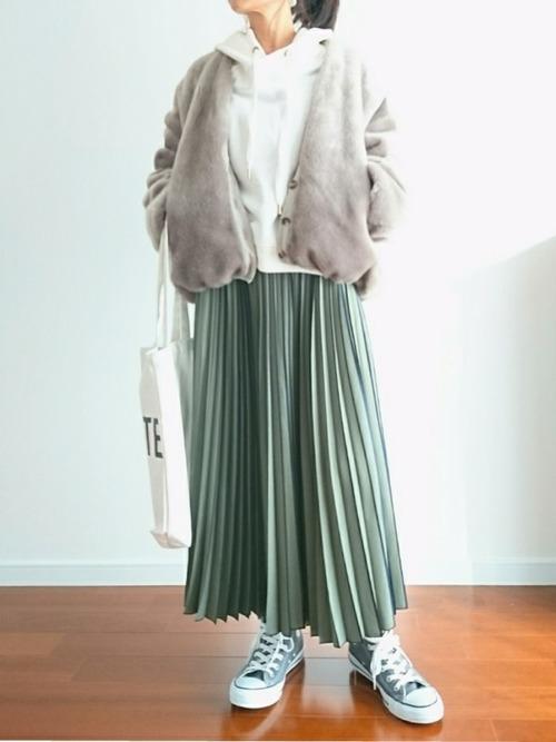 おしゃれ 防寒コーデ スカートスタイル7