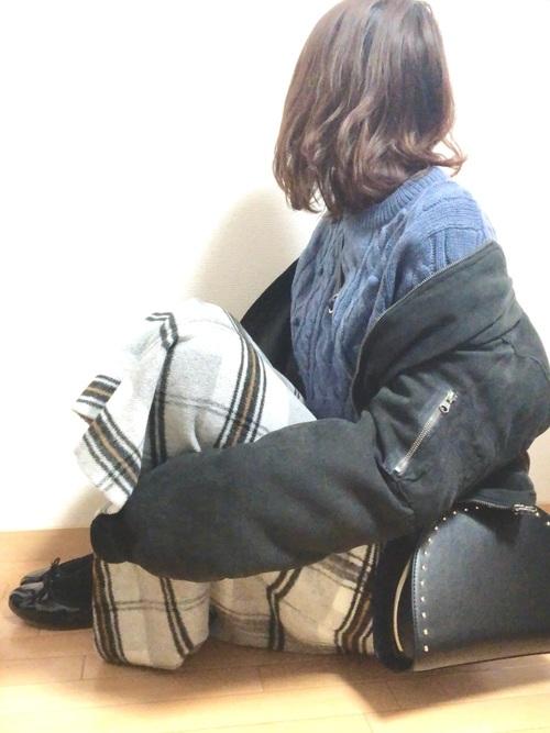 MA-1×Aラインスカート