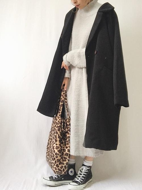 名古屋 2月 服装 ワンピースコーデ2