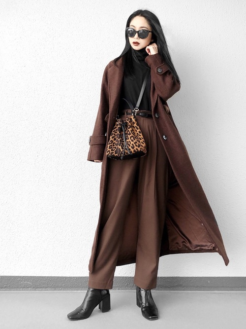 [MOUSSY] SINGLE BREASTED WOOL COAT