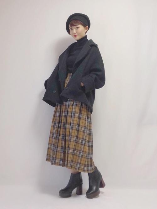 [LOWRYS FARM] タータンチェックプリーツスカート 821534