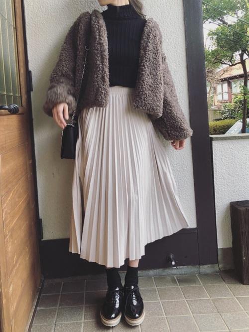 おしゃれ 防寒コーデ スカートスタイル3