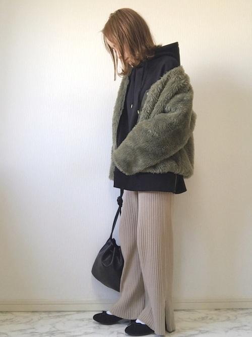 名古屋 2月 服装 パンツコーデ3