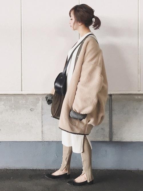 名古屋 1月 服装 ワンピースコーデ4