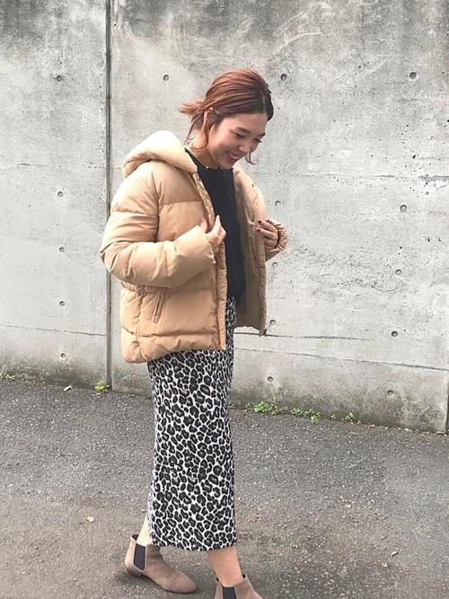 名古屋 1月 服装 スカートコーデ2