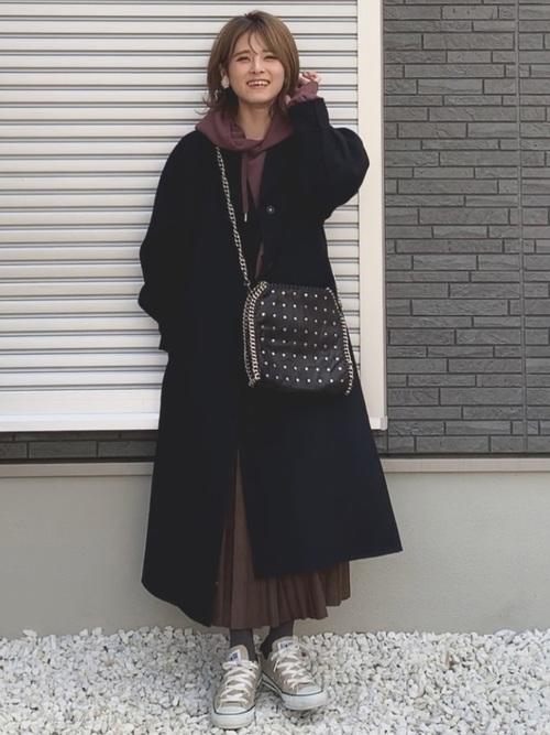 名古屋 1月 服装 スカートコーデ3