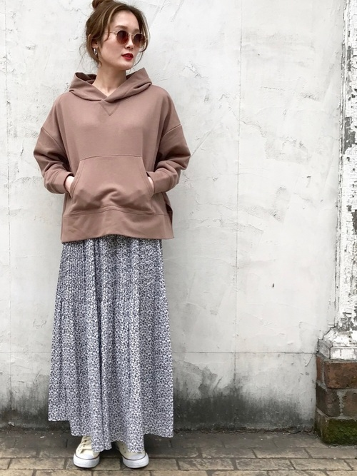 [archives] 小花消しプリーツスカート2
